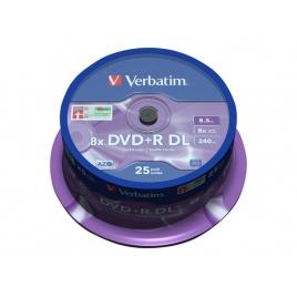 DVD+R Verbatim 8.5GB 16X Lata 25U