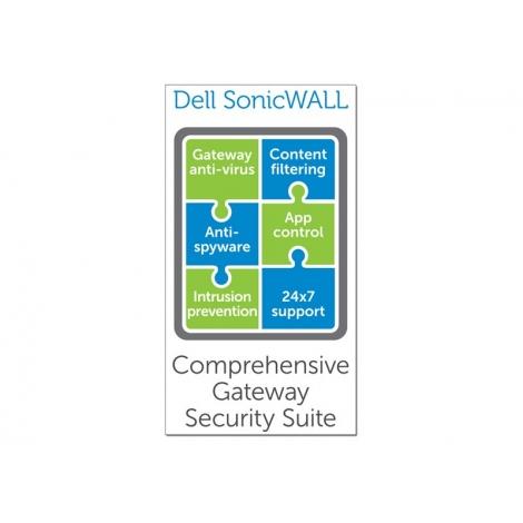 Servicio Sonicwall Comprehensive Gateway Security Suite Bundle TZ 205 Series 1 año