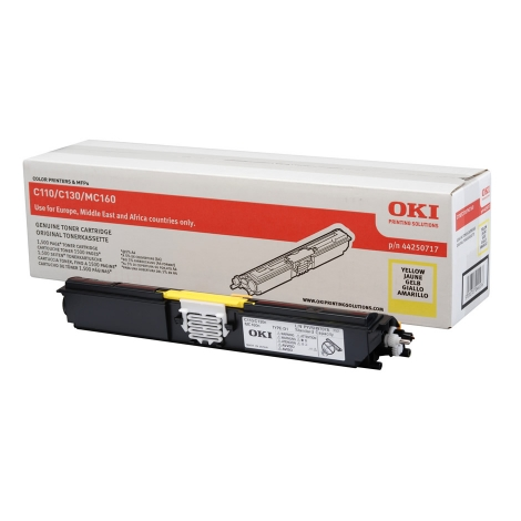 Toner OKI 44250717 Yellow C100 1500 PAG