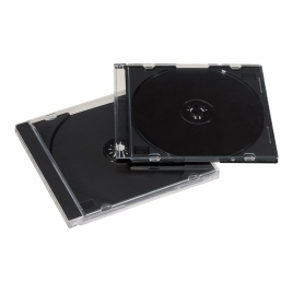 Archivador Caja CD Fellowes 1 Unidad Black Pack 10U
