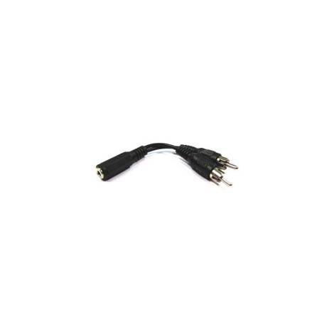 Adaptador Kablex Audio Jack 3.5MM Hembra / 2X RCA Macho