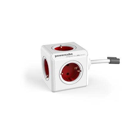 Regleta Powercube Extended 5 Tomas White/Red 1.5M