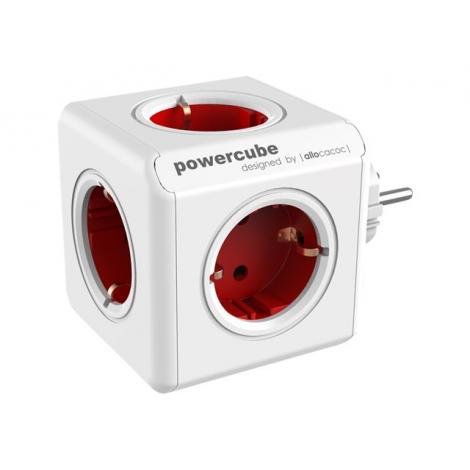 Regleta Powercube Original 5 Tomas White/Red