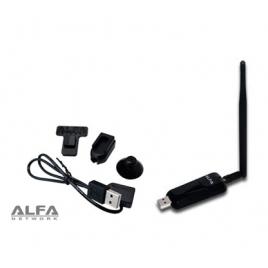 Adaptador WIFI Alfa Network Awus036neh 150Mbps USB 5DBI + Dongle Clip SET