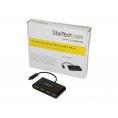 HUB Startech USB-C 4 Puertos USB 2.0 Black