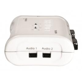 Conmutador KVM Trendnet 2X1 MON, TEC, RA USB + Audio