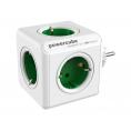 Regleta Powercube Original 5 Tomas White/Green