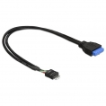Cable Kablex USB 2.0 Placa Base 9 Pines Macho / USB 3.0 19 Pines Hembra