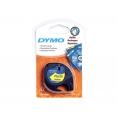 Rollo Dymo Letratag 12Mmx4m Yellow/Black