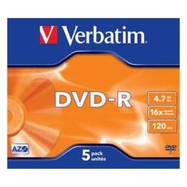 DVD-R Verbatim 4.7GB 16X Caja 5U