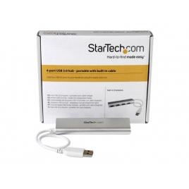 HUB Startech St43004ua 4 Puertos USB 3.0 Silver