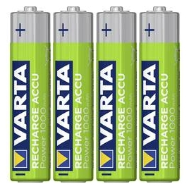 Pila Recargable Varta Power Tipo AAA 1000MAH Ready TO USE Pack 4
