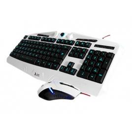 Teclado + Mouse Mars Gaming Zeus Iluminado White