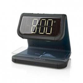 Reloj Despertador Nedis QI LED Black
