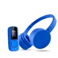 Music Pack Bluetooth Energy Reproductor MP3 + Auriculares 8GB Radio FM Blue