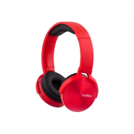 Auricular + MIC Coolbox Coolmetal Micro SD Bluetooth red