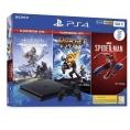 Consola Sony PS4 Slim 500GB + Horizon Zero + Rachet & Clank + SPIDER-MAN
