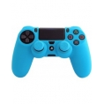 Funda FR-TEC Silicone + Grips Blue para Dualshock 4