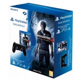 Mando PS4 Sony Dualshock4 Black + Uncharted 4