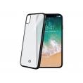 Funda Movil Back Cover Celly Laser Matt Transparente/Black para iPhone X / XS