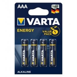 Pila Alcalina Varta Energy Tipo AAA LR03 Pack 4