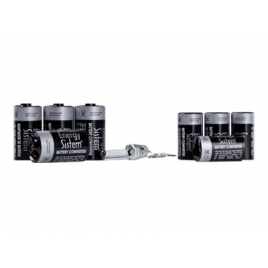 Adaptadores Pilas AA Nnatura Converter Tipo C Y Tipo D + Tester Pilas Aa/Aaa