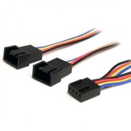Cable Startech Molex FAN 4P Hembra / 2X Molex FAN 4P Macho PWM 0.3M