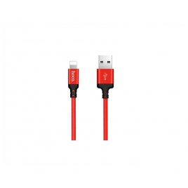 Cable Kablex USB 2.0 a Macho / Apple Lightning Macho 1M Trenzado red