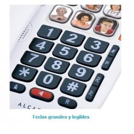 Telefono Fijo Alcatel Tmax 10 Teclas Grandes White