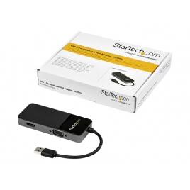 Adaptador Startech Video Externo USB 3.0 / HDMI + VGA