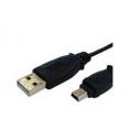 Cable Kablex USB 2.0 a Macho / Mini USB B Macho 5P 1.8M Black