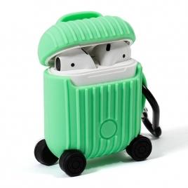 Funda Cool Silicona Soft Mint para Estuche Airpods AIR V2 / V3 QI