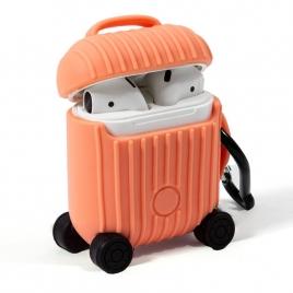 Funda Cool Silicona Soft Orange para Estuche Airpods AIR V2 / V3 QI