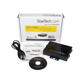 HUB Startech USB-B 2 Puertos RS232 + Jack Black