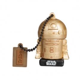 Memoria USB Silver HT 16GB Star Wars TLJ R2D2 Gold
