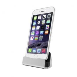 Base Dock Unotec Lightning Silver para iPhone