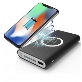 Bateria Externa Universal QI Unotec 10.000MAH Black