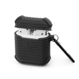 Funda Unotec Silicona Armor Black para Estuche Airpods
