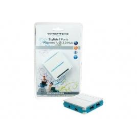 HUB Conceptronic USB 4 Puertos Alimentado Blue