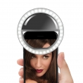 LUZ Unotec Selfie Anillo Oracle Universal Regulable Clip Black