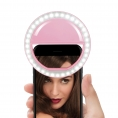 LUZ Unotec Selfie Anillo Oracle Universal Regulable Clip Pink