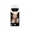 LUZ Unotec Selfie Flash Anillo Universal 3 Tonos White Micro USB