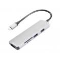 Puerto Replicador USB-C Celly 3Xusb 3.0 + SD + Micro SD