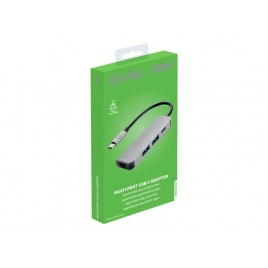 Puerto Replicador USB-C Celly HDMI + 2Xusb 3.0 + USB-C