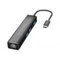 Puerto Replicador USB-C Conceptronic RJ45 + 3Xusb 3.0