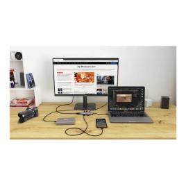 Puerto Replicador USB-C I-TEC HDMI + 3Xusb 3.0 + USB-C + SD + Micro SD Silver / Blue