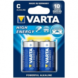 Pila Alcalina Varta High Energy Tipo C Pack 2