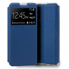 Funda Movil Cool Leather Window Blue para Oppo A54 5G / A74 5G