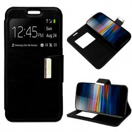 Funda Movil Cool Leather Window Black para Sony Xperia L3