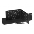 Teclado Silver HT Bluetooth Plegable Black